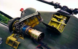 CH-47D Chinook engine