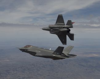 F-35A AF-1 and AF-2 arrival at Edwards Air Base